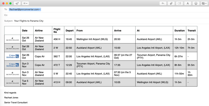 Easy PNR Converter & Decoder- Flight Itinerary Converter for Galileo